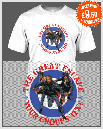 great escape stag t-shirts