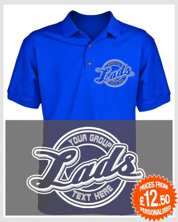 lads logo stag holiday polo shirts