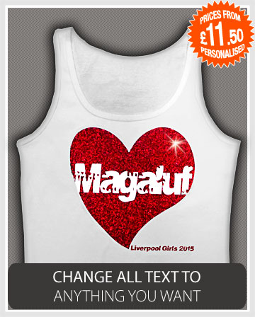 lads holiday vest glitter hearts